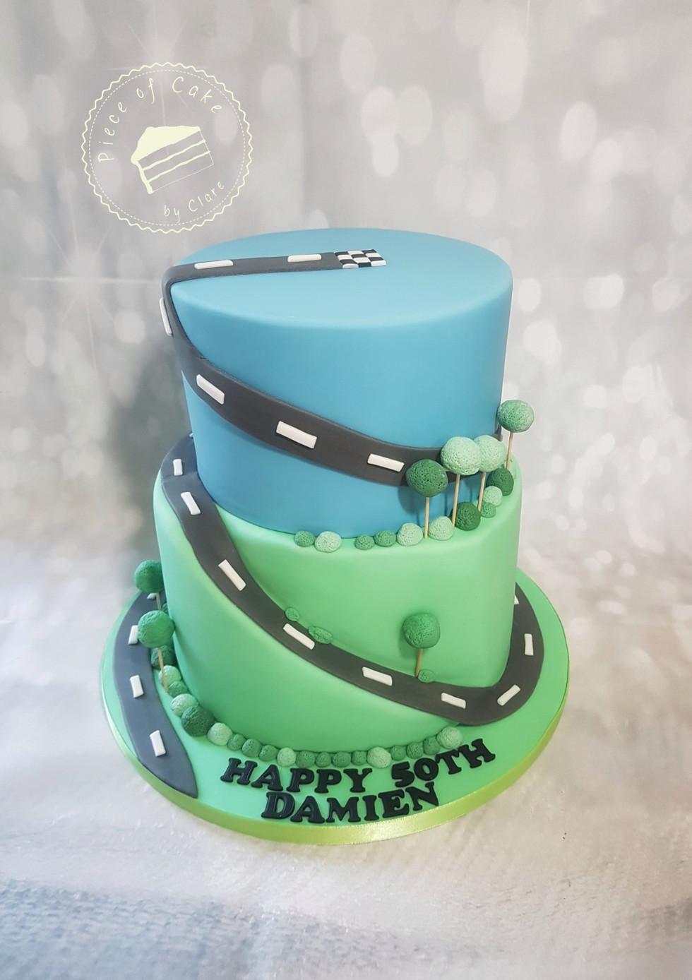 Birthday cake for a cyclist