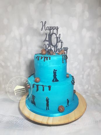 40th birthday cake for him