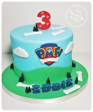 Paw Patrol 3rd birthday cake