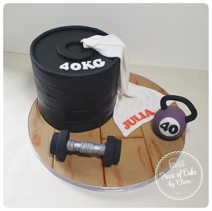 Fitness gym cake