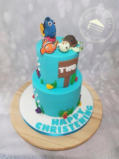 Christening and 2nd birthday cake
