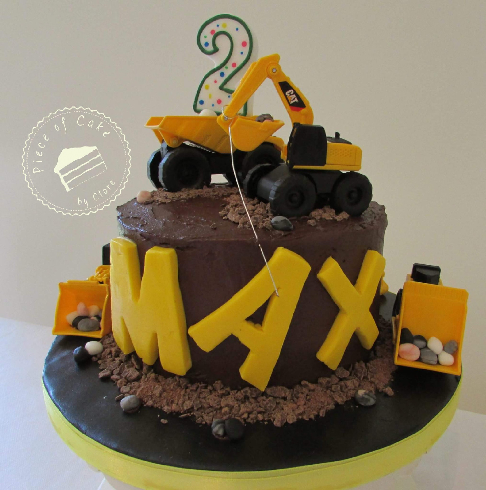 Chocolate Digger Cake For 2nd Birthday