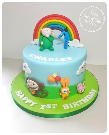 Baby TV themed cake