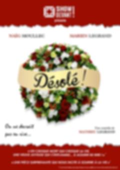 Affiche de Désolé, une pièce de théâtre produite par Show Devant