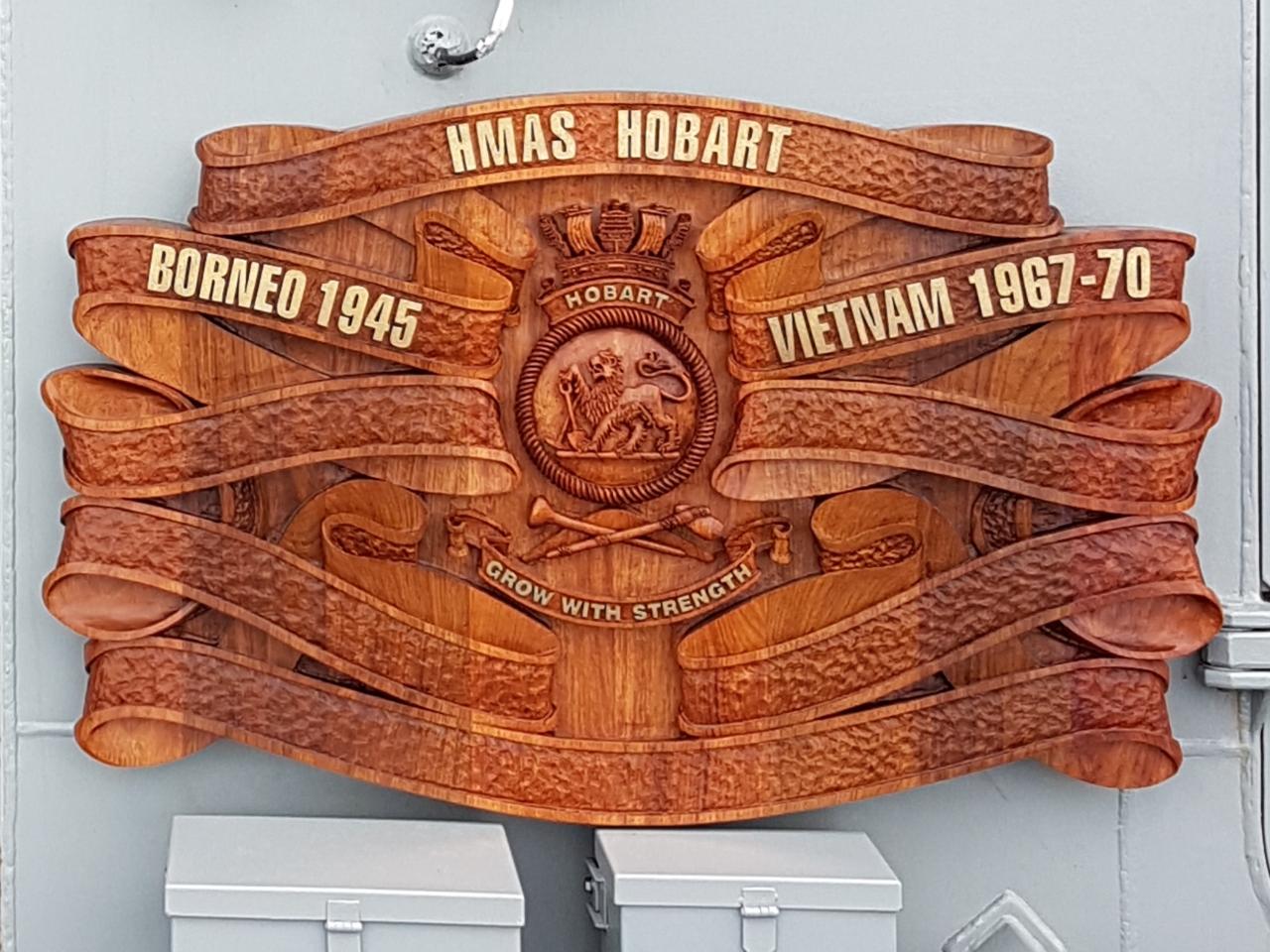 2nd HMAS Hobart Battle Honour Board