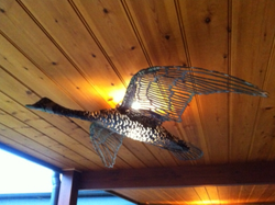 CANADIAN GEESE CEILING LIGHT