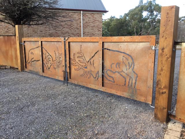 Hand plasma cut Elk gates