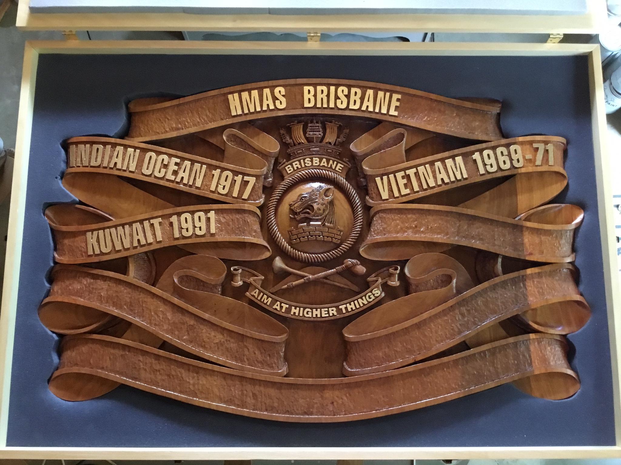 HMAS BRISBANE Battle Honours Board
