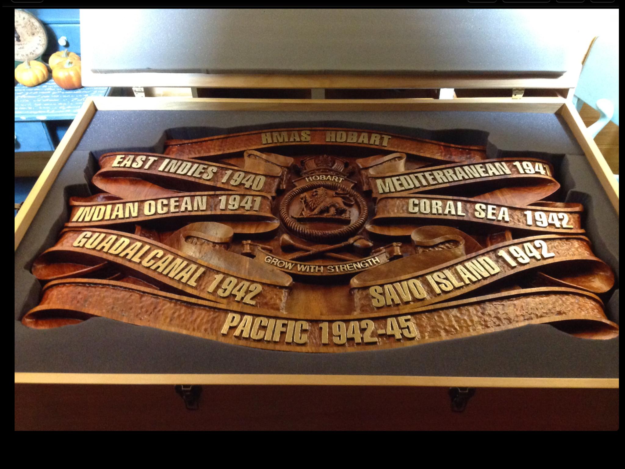 Battle Honour Board.