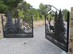 CUSTOM METAL DEER GATES