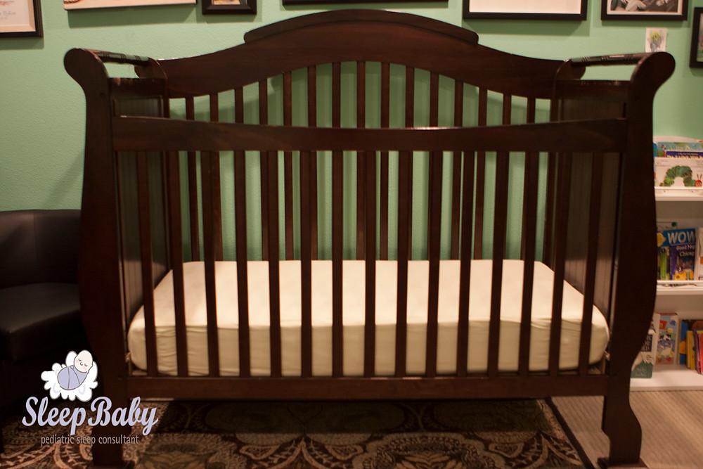 safe sleep environment photo of a crib