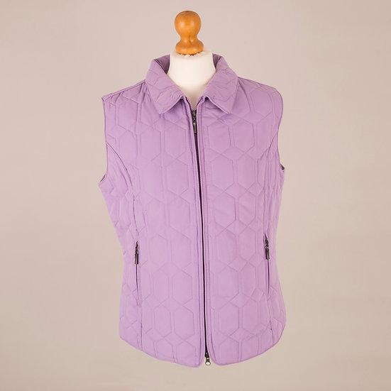 Plain violet diamond gilet