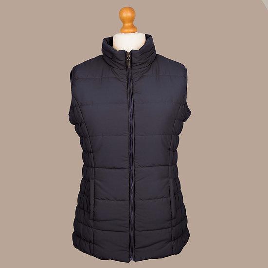 Plain navy hooded gilet