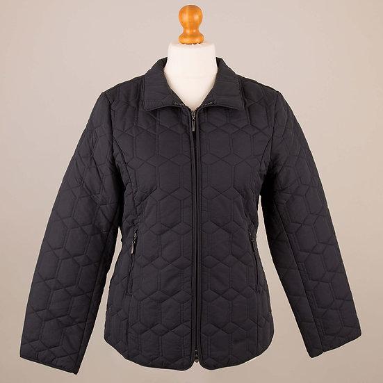 Plain navy diamond jacket