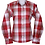Red and white check easy care relaxed fit shirt_Front
