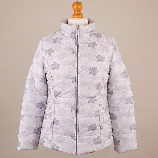 Hooded Jacket - Grey Leaves