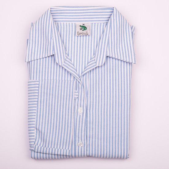 Blue Stripe_Tunic_Folded