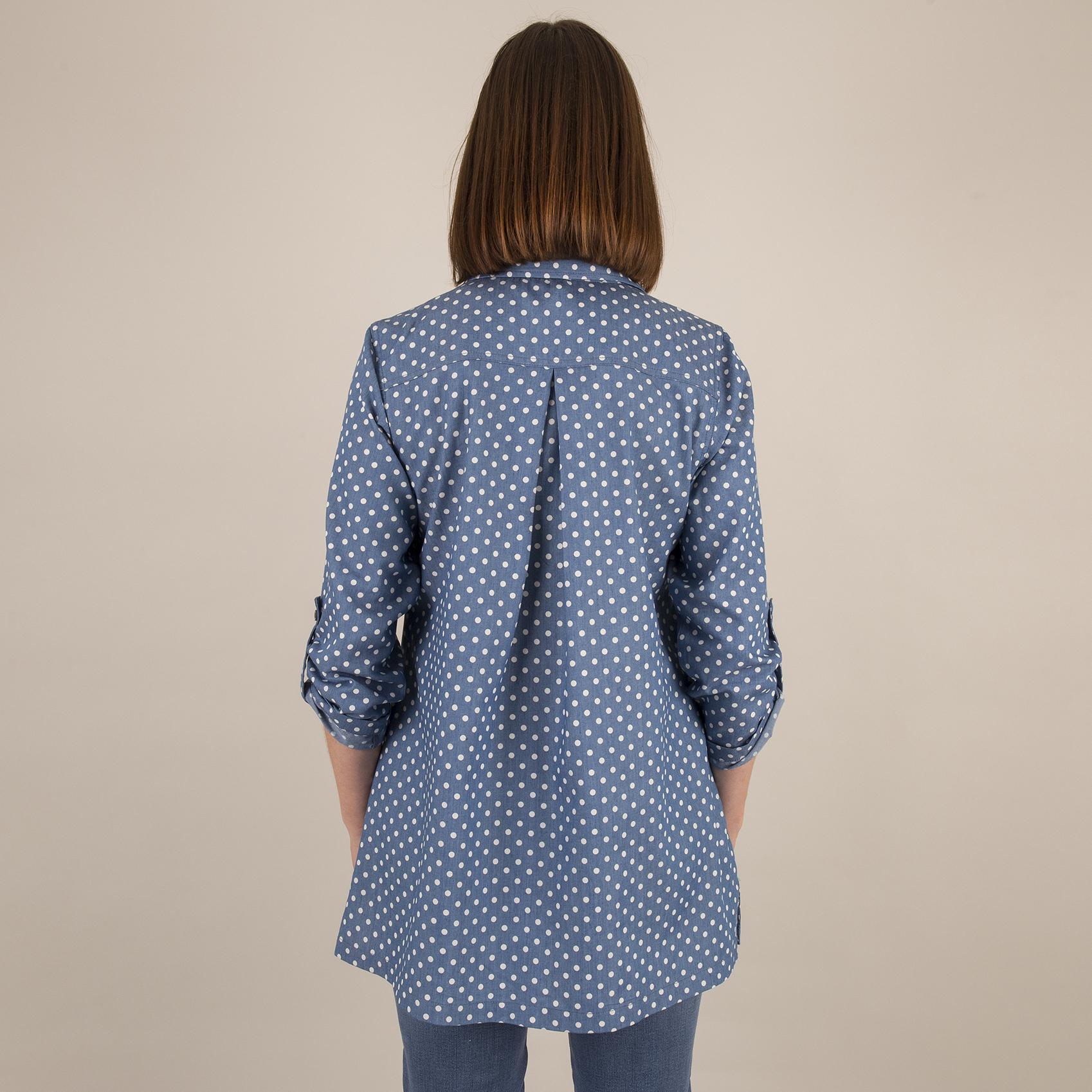 Shirt Collar Tunic - Back