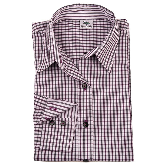 Ladies black & purple checked shirt  - Relaxed fit - 2313-1