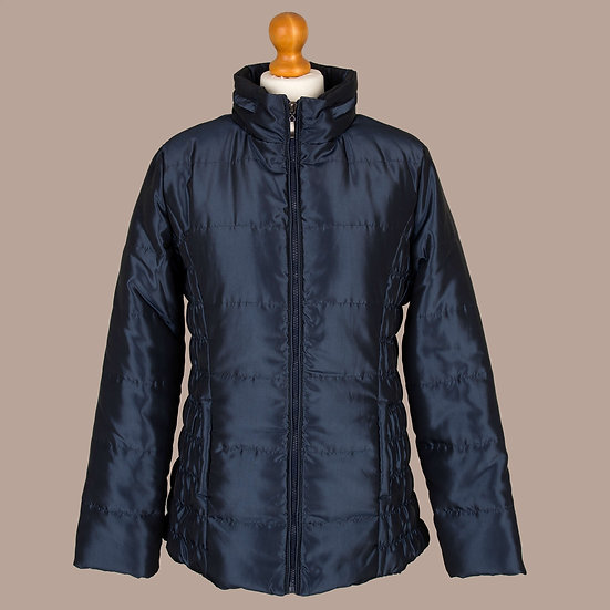 Blueberry metallic / shiny finish hooded jacket