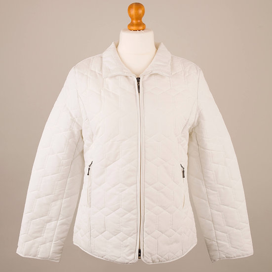 Plain white diamond jacket