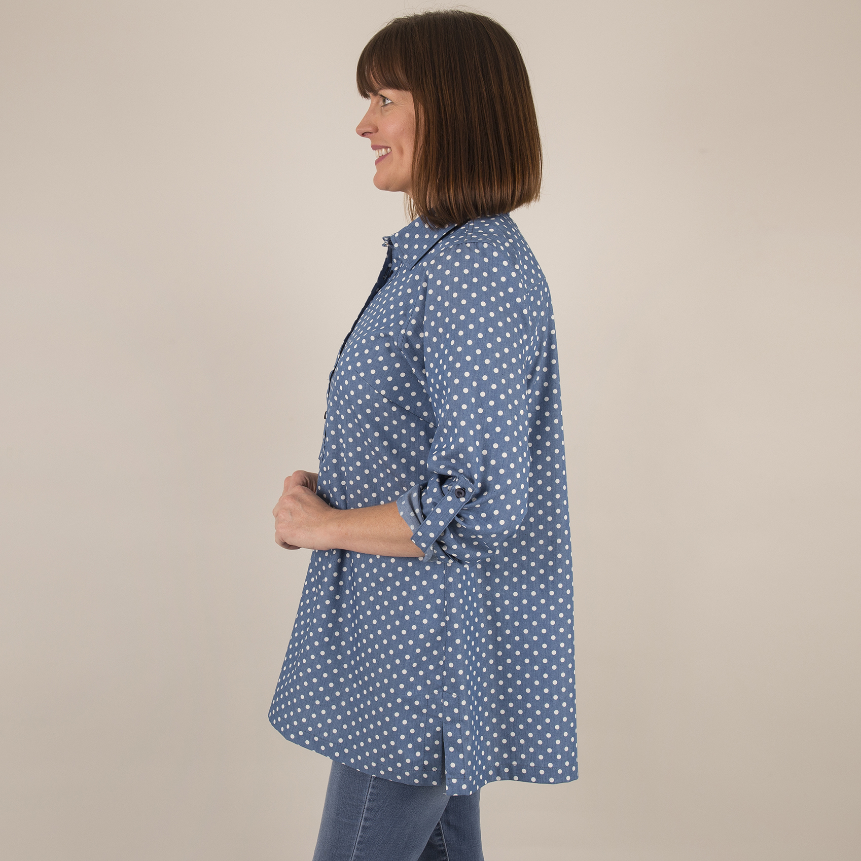 Shirt Collar Tunic - Side
