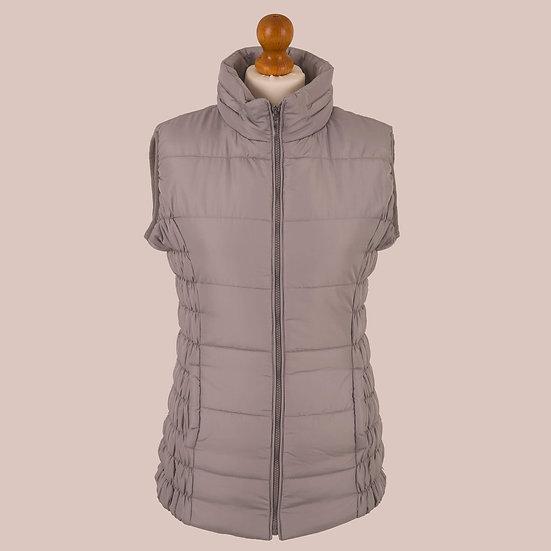 Plain silver hooded gilet