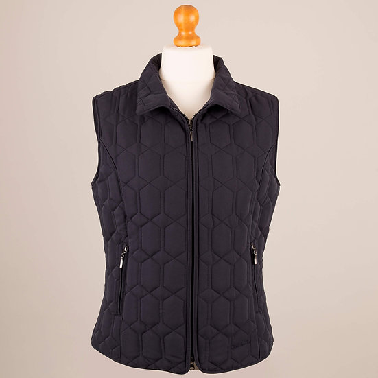 Plain navy diamond gilet
