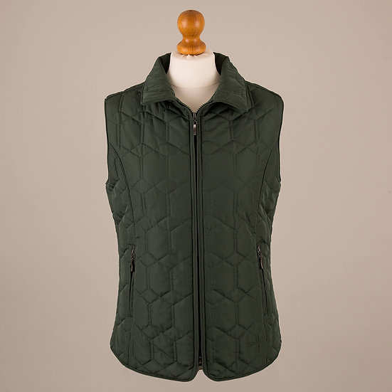 Pine green diamond gilet