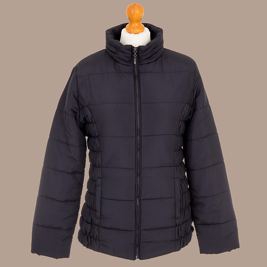 Plain navy hooded jacket