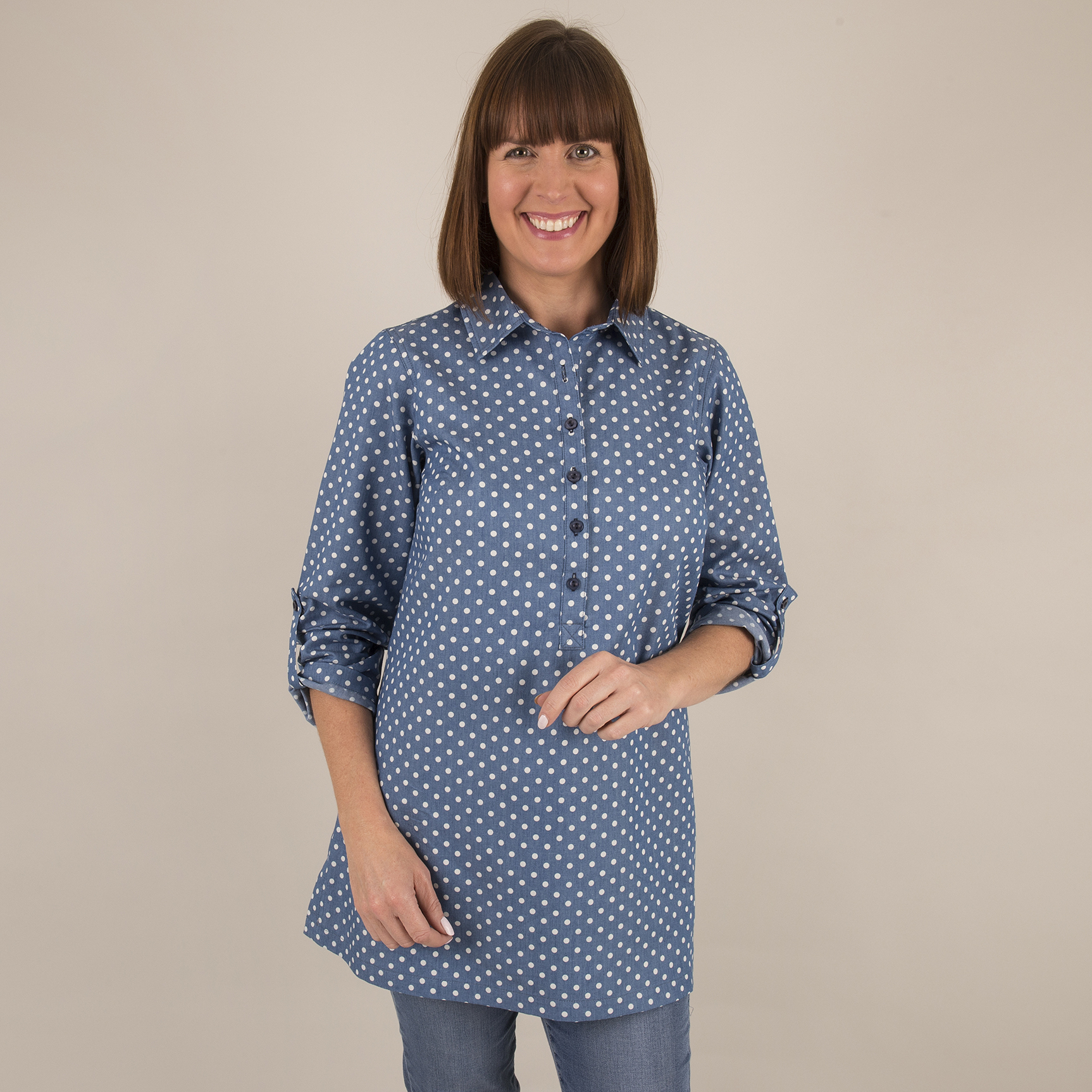 Shirt Collar Tunic - Front