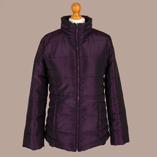 Plum metallic / shiny finish hooded jacket
