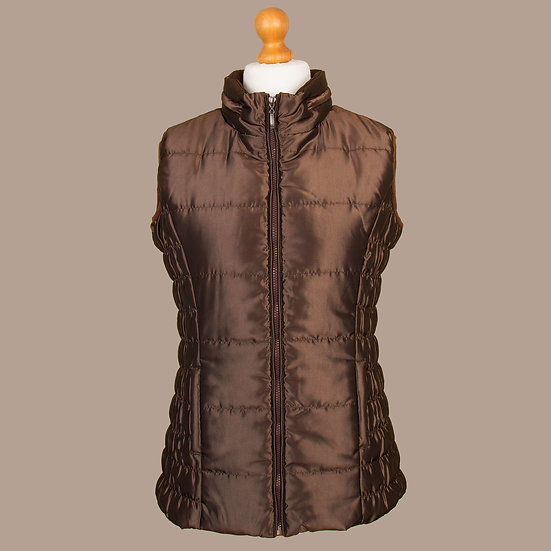 Bronze metallic / shiny finish hooded gilet