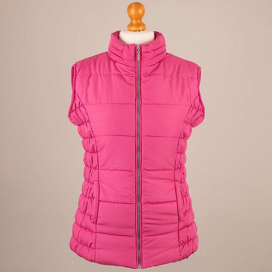 Cerise pink hooded gilet