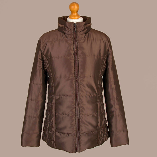 Bronze metallic / shiny finish hooded jacket