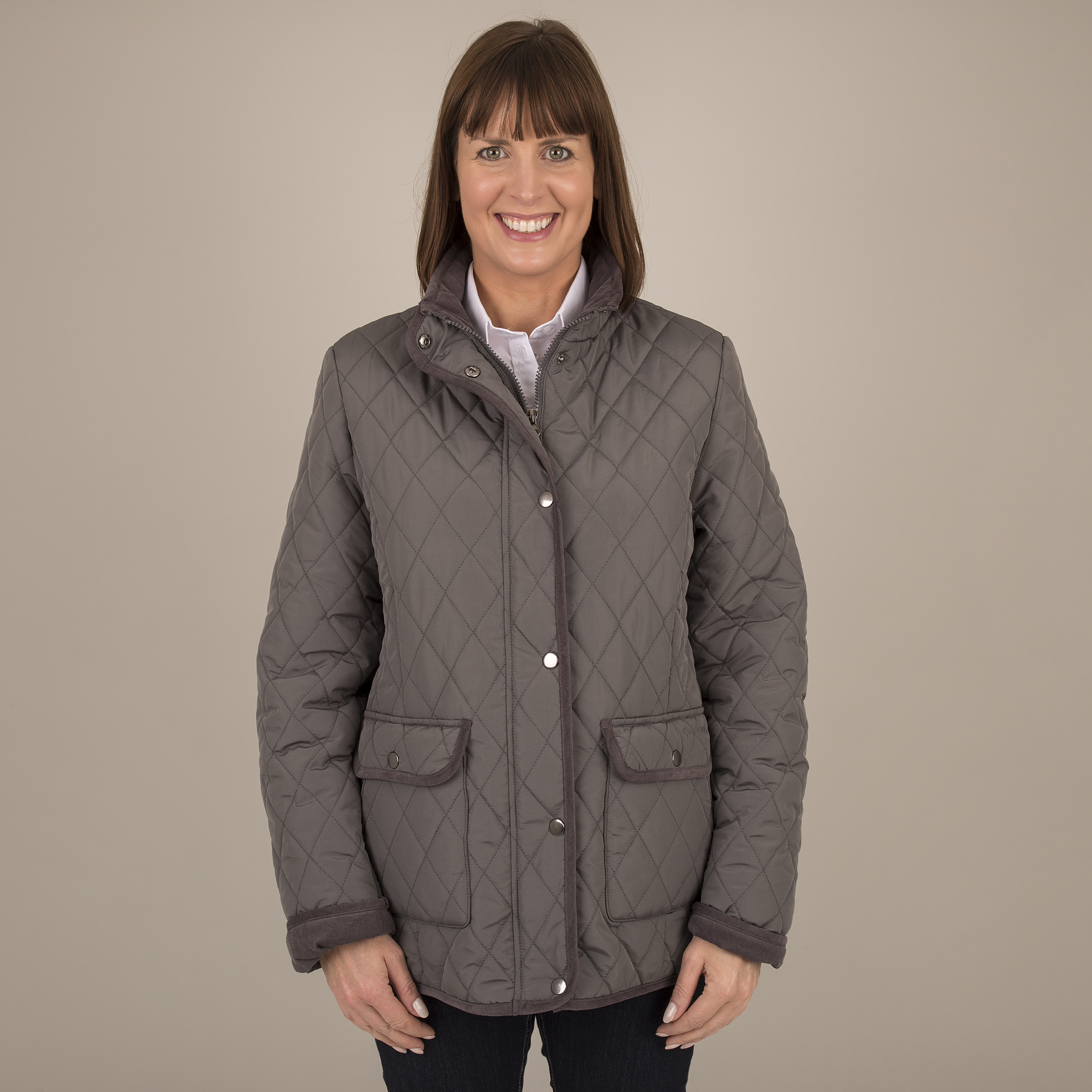 Ladies Quilted Jacket - Front