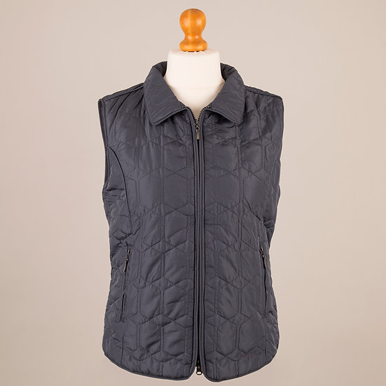 Slate blue diamond gilet