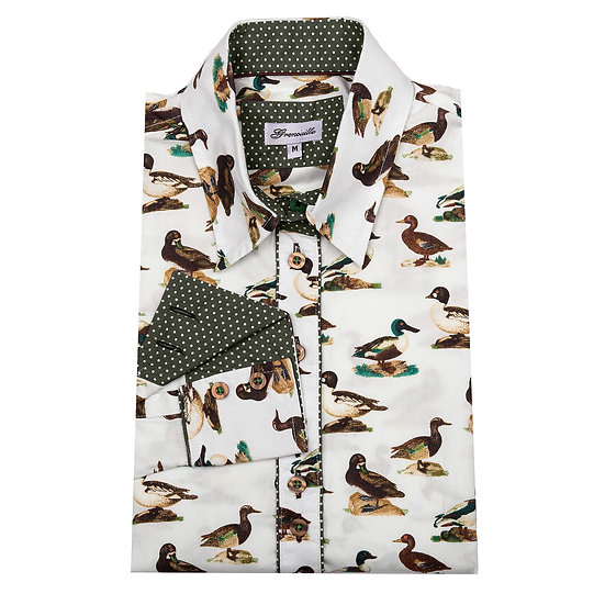 Ladies Cream Duck Shirt - Relaxed Fit -DCK/W