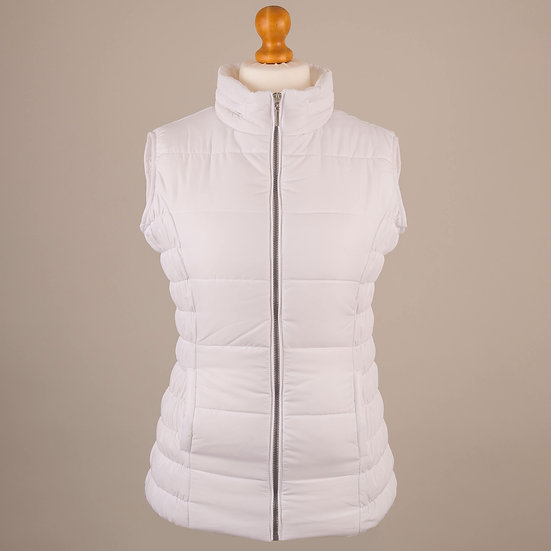 Bright white hooded gilet