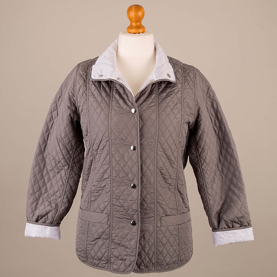 Grey and white reversible jacket_Grey side