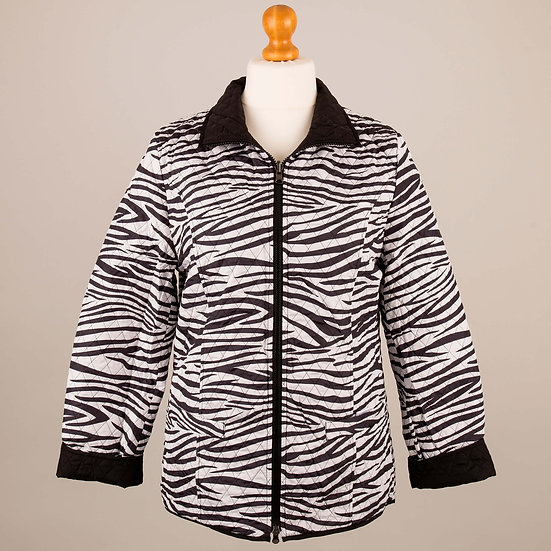 Zebra and black reversible jacket_Zebra side