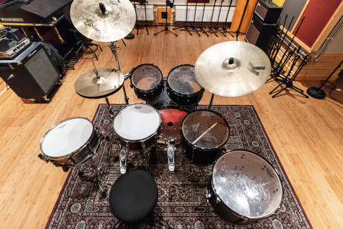 Drum kit top view