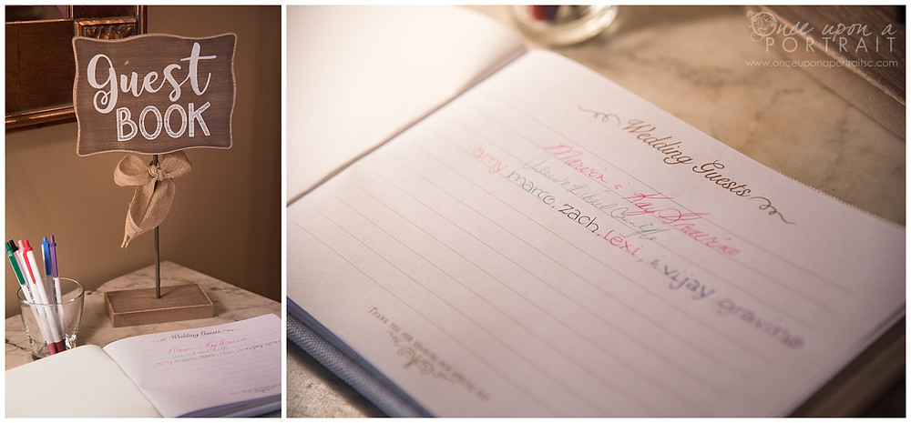 wedding guestbook details simpsonville