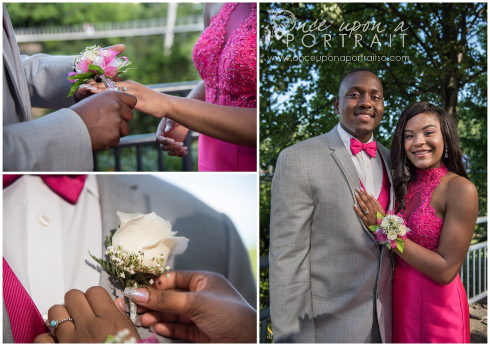 Simpsonville Prom Session in Greenville at Falls Park