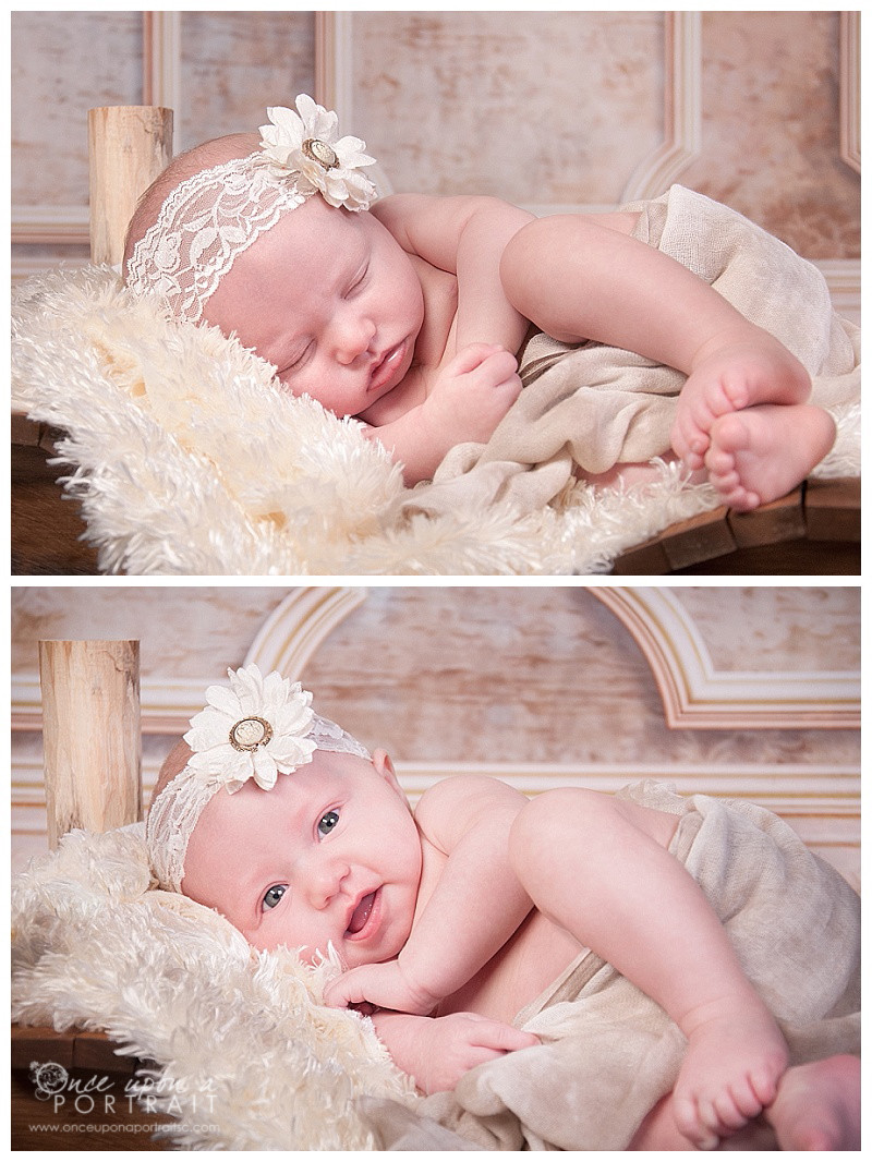 Simpsonville newborn baby girl portrait photographer