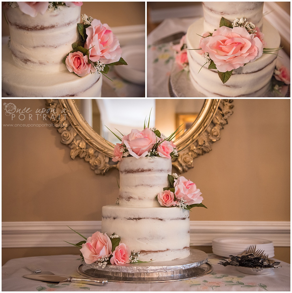 simpsonville wedding cake flowers details