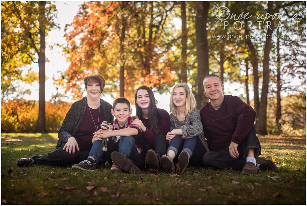 Family session at Furman University in Greenville South Carolina