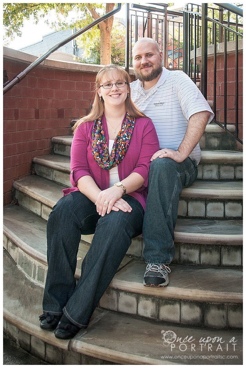 Downtown Anniversary Portraits in Greenville | Simpsonville South Carolina