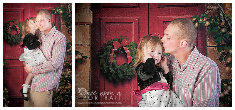 Christmas holiday family studio portrait photographer