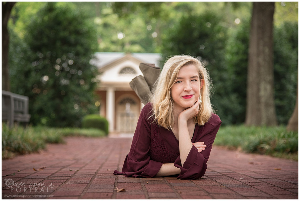 Madison | Autumn Senior Portraits at Furman University in Greenville, South Carolina